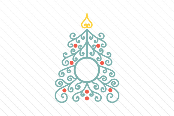 Christmas Tree Monogram Frames Craft Design By Creative Fabrica Crafts Image 3