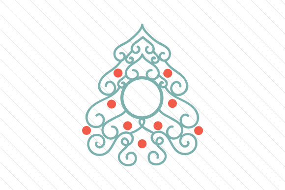 Christmas Tree Monogram Frames Craft Design By Creative Fabrica Crafts Image 4
