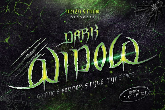 Dark Widow Font By sandrifaqih Image 1
