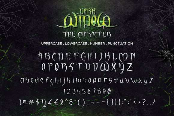 Dark Widow Font By sandrifaqih Image 2