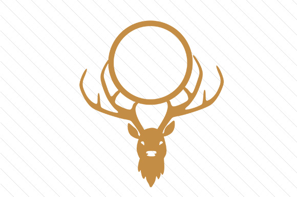 deer monogram frame svg cut file by creative fabrica crafts