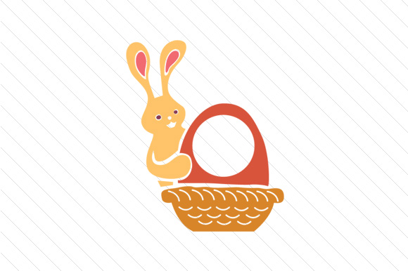 Download Free Easter Bunny Monogram Frames Svg Cut File By Creative Fabrica SVG Cut Files