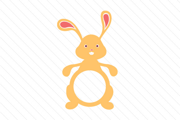 easter bunny monogram frames svg cut file by creative fabrica crafts