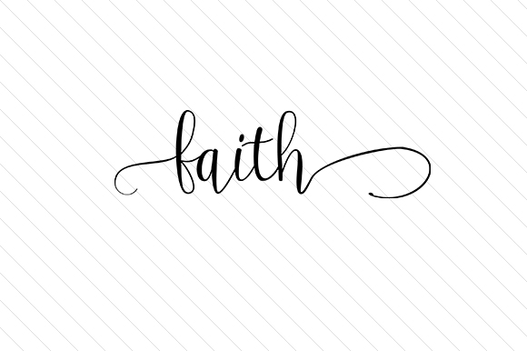 Faith Word Art Craft Cut File By Creative Fabrica Crafts - Image 1