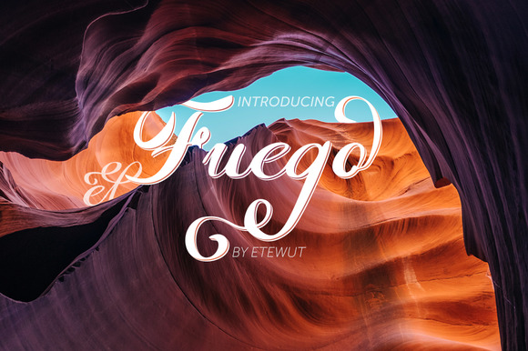 Print on Demand: Fuego Script & Handwritten Font By Etewut