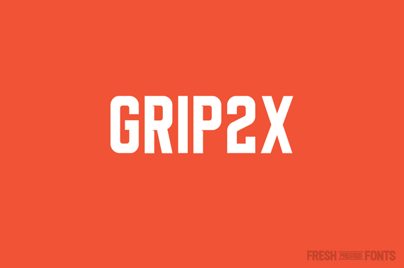 Print on Demand: Grip2X Serif Font By Fresh Pressed Fonts