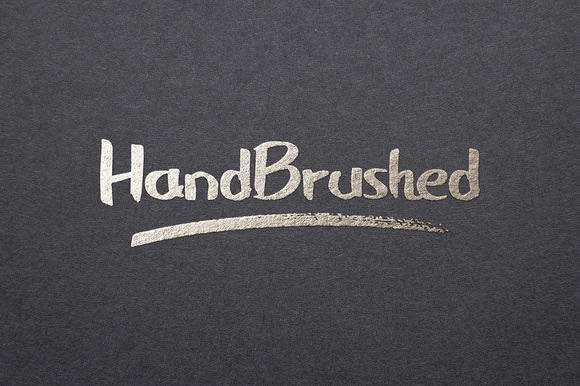 Handbrushed Font By Design A Lot