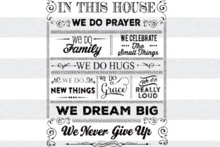 In This House Poster Craft Design By BlackCatsSVG