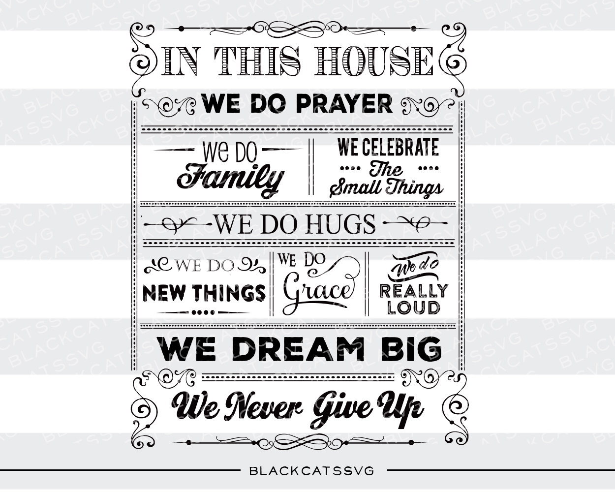 In This House Poster Home Craft Cut File By BlackCatsSVG