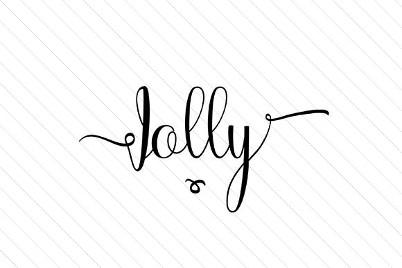 Jolly Word Art Craft Cut File By Creative Fabrica Crafts