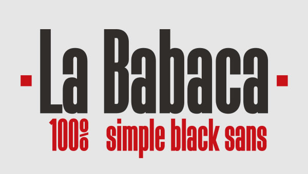 Print on Demand: La Babaca Sans Serif Font By Fernando Haro