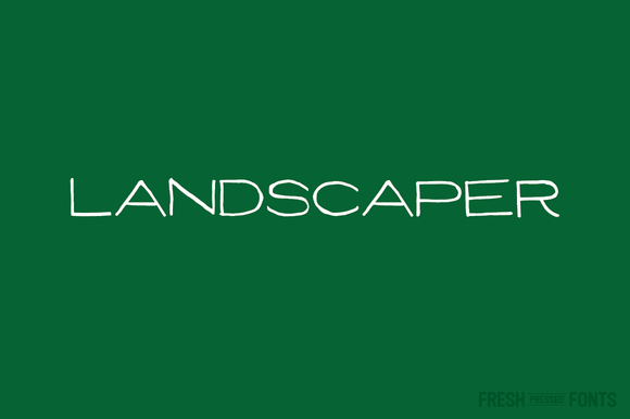 Print on Demand: Landscaper Display Font By Fresh Pressed Fonts