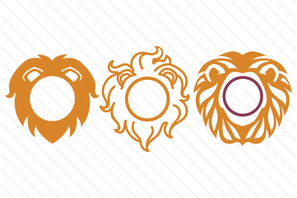Lion Monogram Frames SVG Cut file by Creative Fabrica Crafts ...