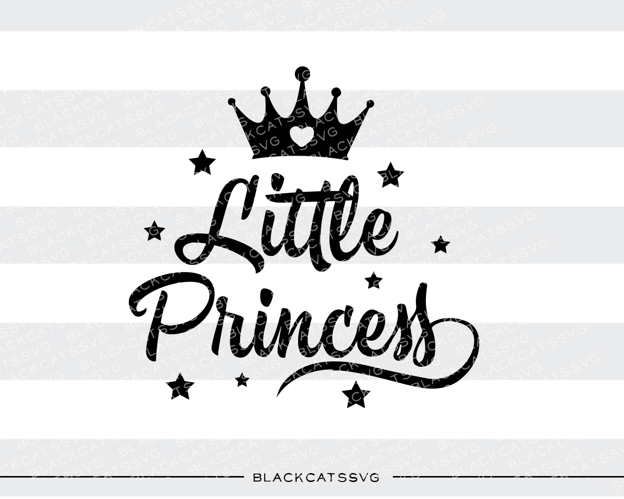 Little Princess Baby Craft Cut File By BlackCatsSVG