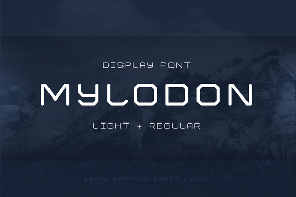Print on Demand: Mylodon Display Font By Fresh Pressed Fonts