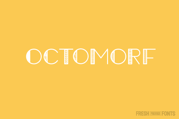 Print on Demand: Octomorf Display Font By Fresh Pressed Fonts