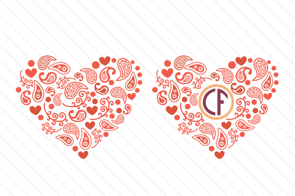 Paisley Heart Paisley Craft Cut File By Creative Fabrica Crafts