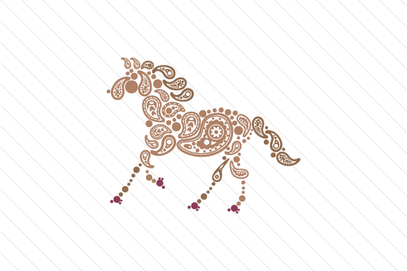 Paisley Horse Paisley Craft Cut File By Creative Fabrica Crafts