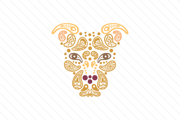 Paisley Pitbull Paisley Craft Cut File By Creative Fabrica Crafts
