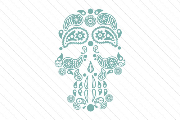 Paisley Skull Paisley Craft Cut File By Creative Fabrica Crafts