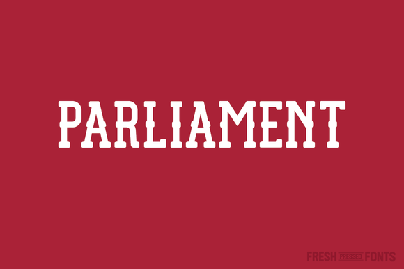 Print on Demand: Parliament Display Font By Fresh Pressed Fonts