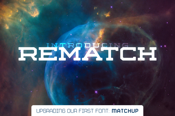 Print on Demand: Rematch Family Display Font By Fresh Pressed Fonts