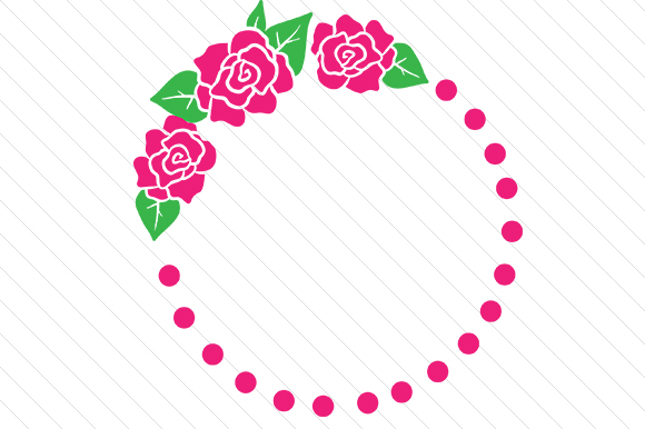 Roses Monogram Frame Monogram Frames Craft Cut File By Creative Fabrica Crafts