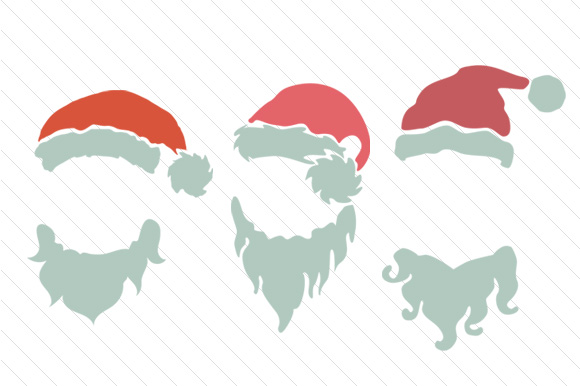 Download Free Santa Hat Monogram Frames Svg Cut File By Creative Fabrica for Cricut Explore, Silhouette and other cutting machines.