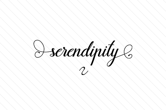 Serendipity Word Art Craft Cut File By Creative Fabrica Crafts