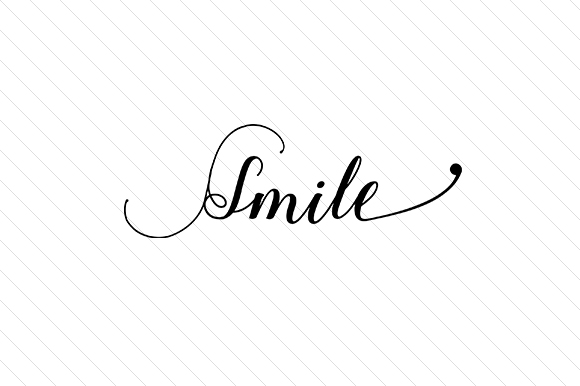 Smile Word Art Craft Cut File By Creative Fabrica Crafts