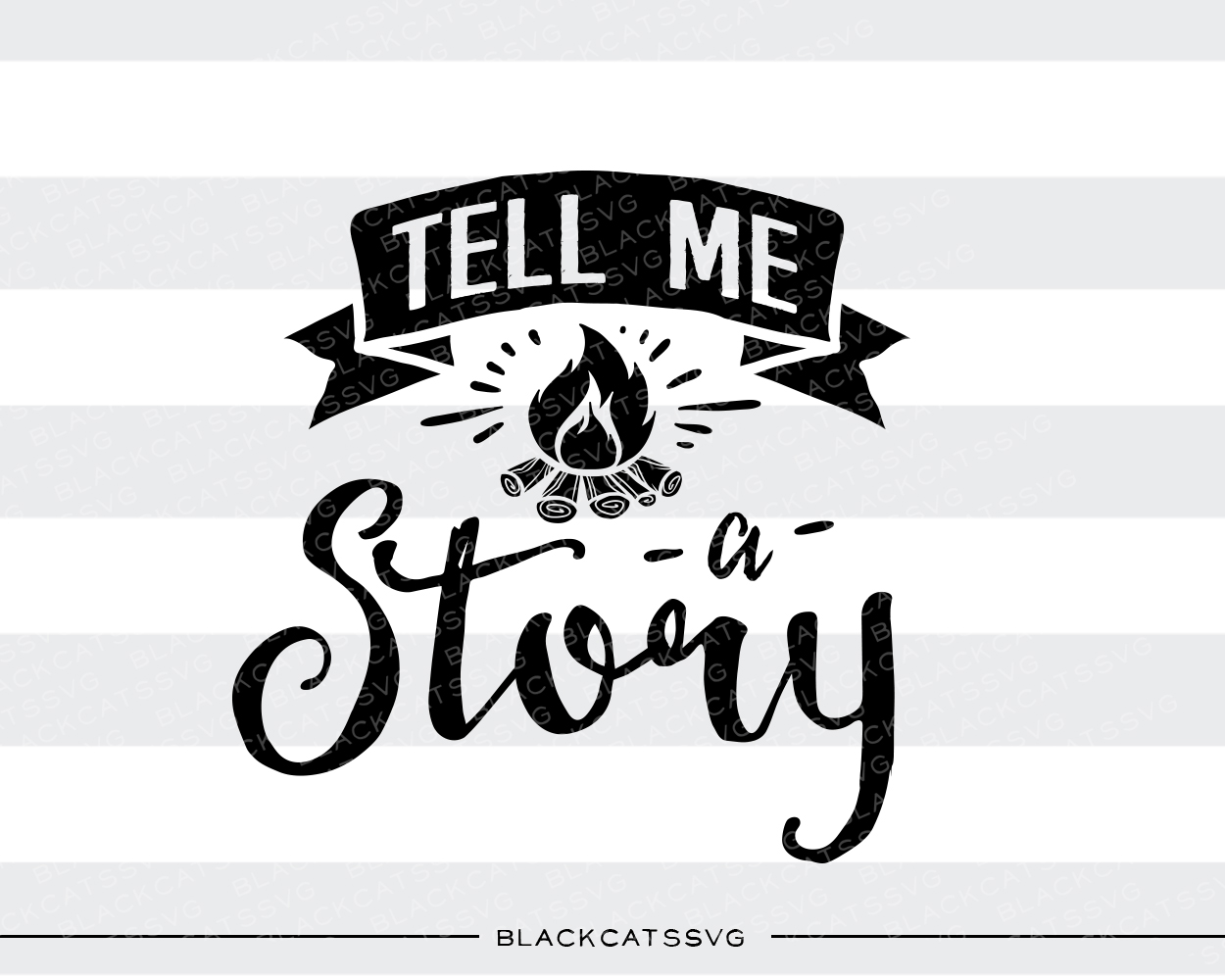 Tell Me A Story Svg Cut File By Blackcatssvg Creative Fabrica
