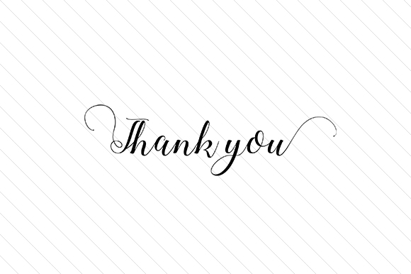 Thank You Word Art Craft Cut File By Creative Fabrica Crafts
