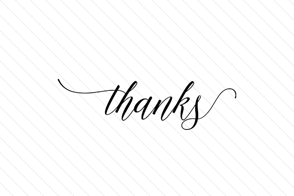 Thanks Word Art Craft Cut File By Creative Fabrica Crafts