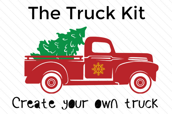 Christmas Truck Kit - Create Your Own Truck Diseño Craft Por Creative Fabrica Freebies
