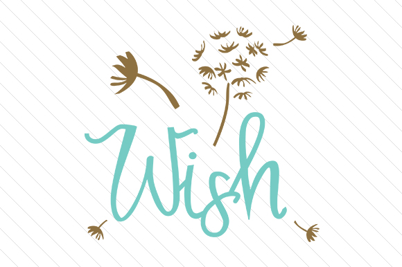 Wish Word Art Craft Cut File By Creative Fabrica Crafts