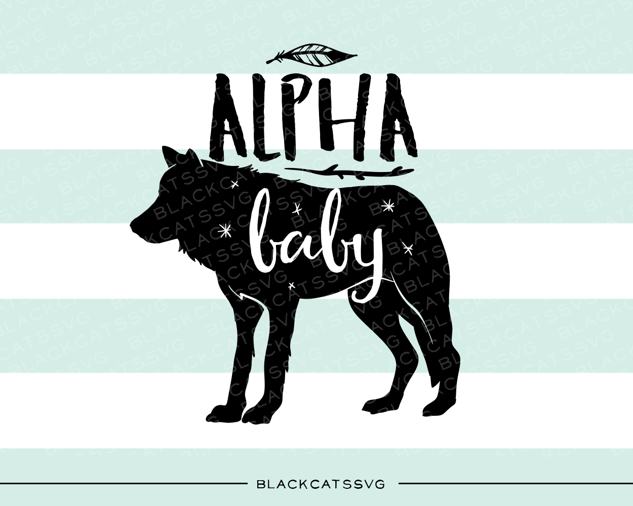 Alpha Baby Bebé Archivo de Corte Craft Por BlackCatsSVG