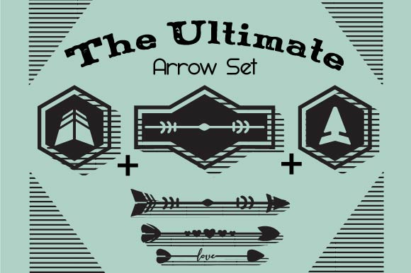 Arrow Mix & Match Set - Design Your Own Arrow Kits & Sets Craft Cut File By Creative Fabrica Crafts
