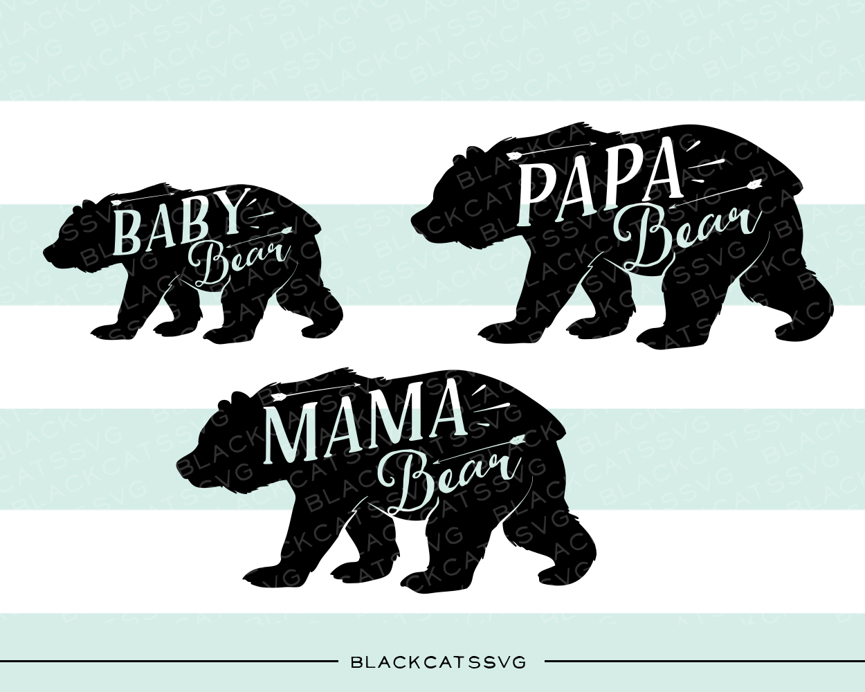 Bear Family Bebé Archivo de Corte Craft Por BlackCatsSVG