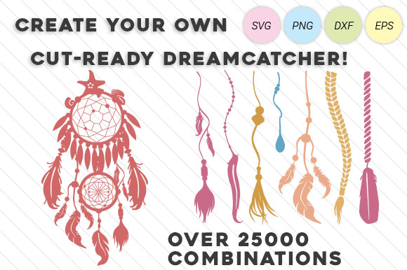 Dream Catcher Kit- Design Your Own Dream Catcher Kits & Sets Craft Cut File By Creative Fabrica Crafts - Image 1