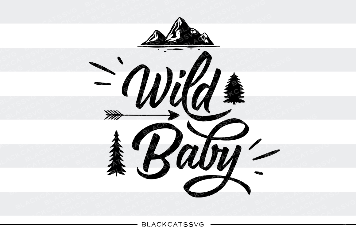 Wild Baby Baby Craft Cut File By BlackCatsSVG