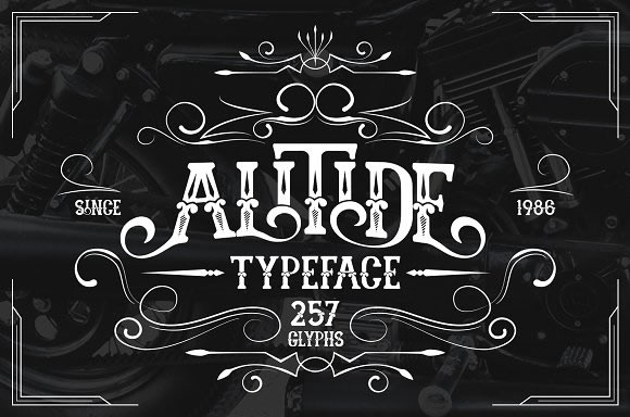 Print on Demand: Alitide Serif Font By Alit Design