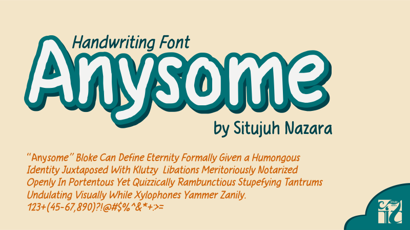 Print on Demand: Anysome Manuscrita Fuente Por Situjuh
