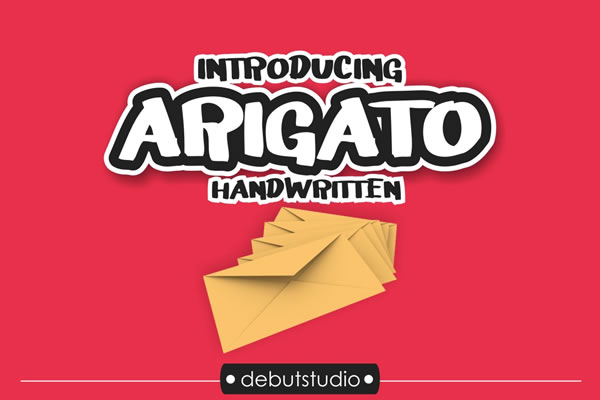 Print on Demand: Arigato Script & Handwritten Font By Debut Studio