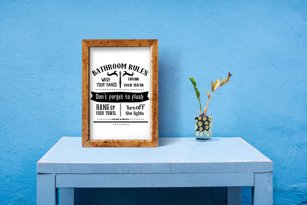 Bathroom Rules Sign Svg Cut File By Creative Fabrica Crafts