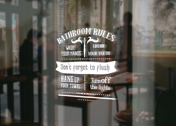Download Free Bathroom Rules Sign Svg Cut File By Creative Fabrica Crafts for Cricut Explore, Silhouette and other cutting machines.