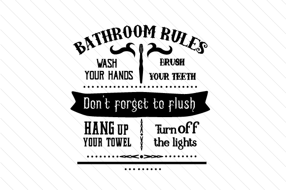Bathroom Rules Sign Badezimmer Plotterdatei von Creative Fabrica Crafts