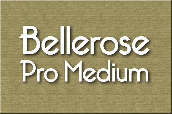 Print on Demand: Bellerose Pro Medium Sans Serif Font By Harris Design