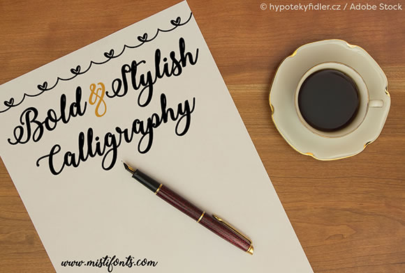 Print on Demand: Bold & Stylish Calligraphy Script & Handwritten Font By Misti