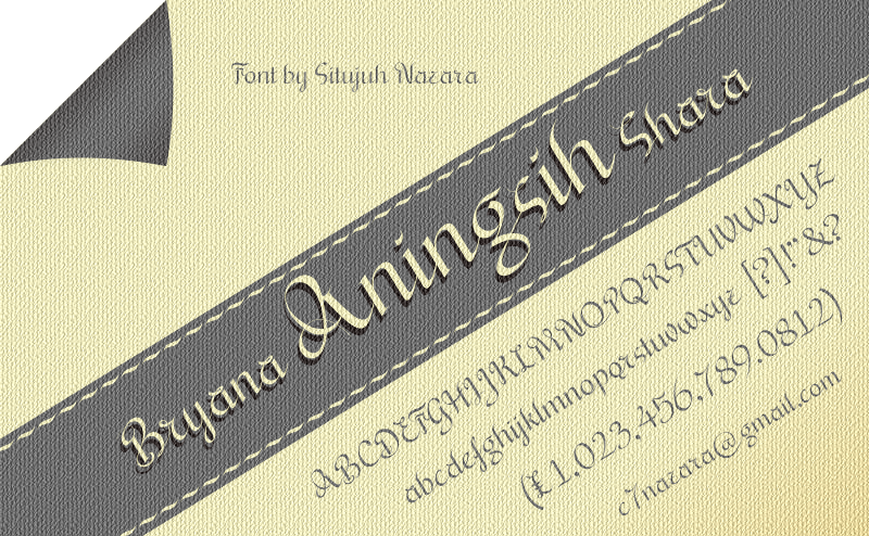 Download Free Bryana Aningsih Shara Font By Situjuh Creative Fabrica for Cricut Explore, Silhouette and other cutting machines.