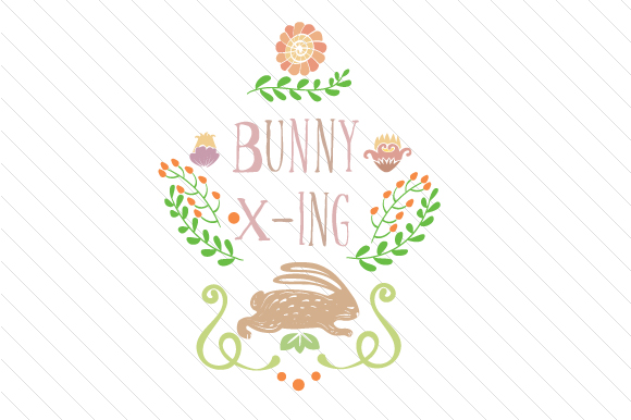 Bunny X-ing Easter Craft Cut File By Creative Fabrica Crafts